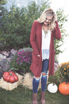 Pumpkin Spice Loose Knit Cardigan
