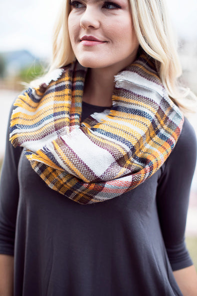 Scarecrow Mustard Infinity Scarf