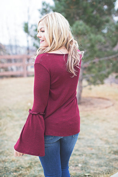 Burgundy soft Amelia top