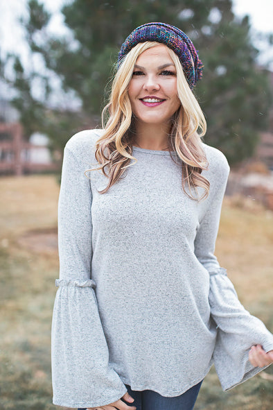 Grey soft Amelia top