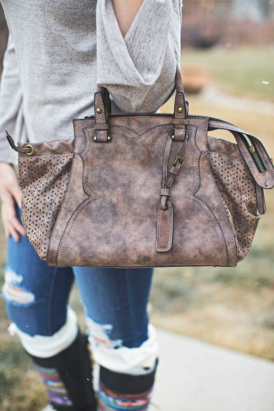 Lillie Avenue taupe handbag