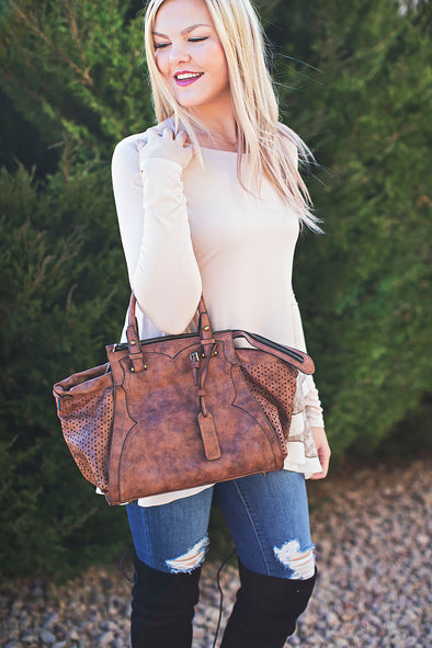 Lillie Avenue Tan Handbag