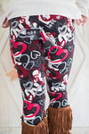 Beloved heart graphic leggings