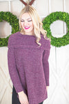 Violet soft knit sweater