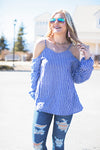 Beaches and sails blue stripe top