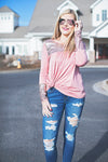 The perfect sequin pink top