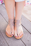 Taupe Strap Gladiator Sandals
