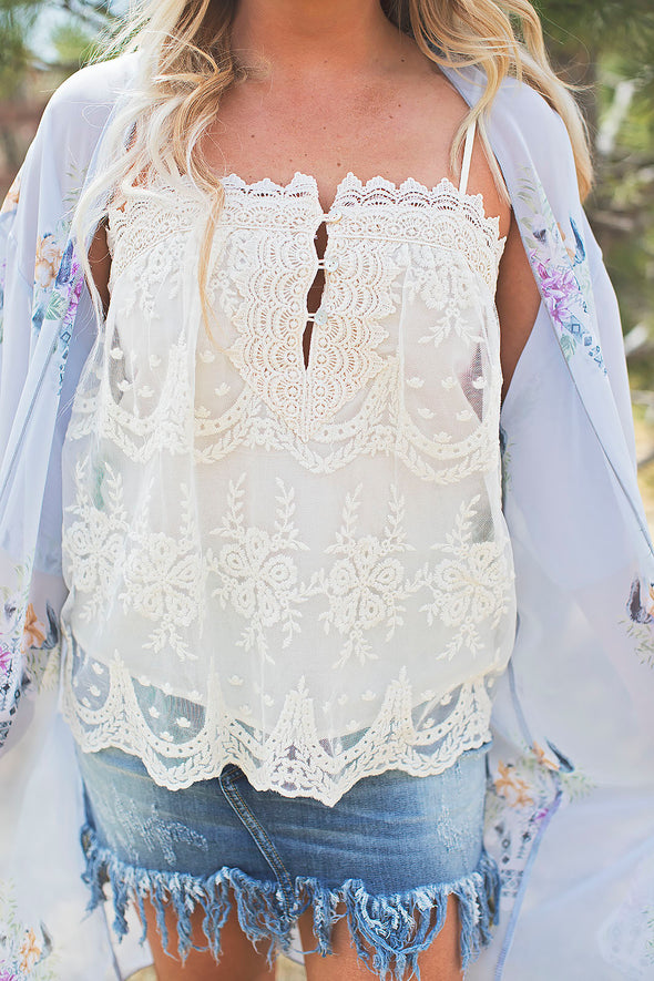 Emma Lace Top Cream