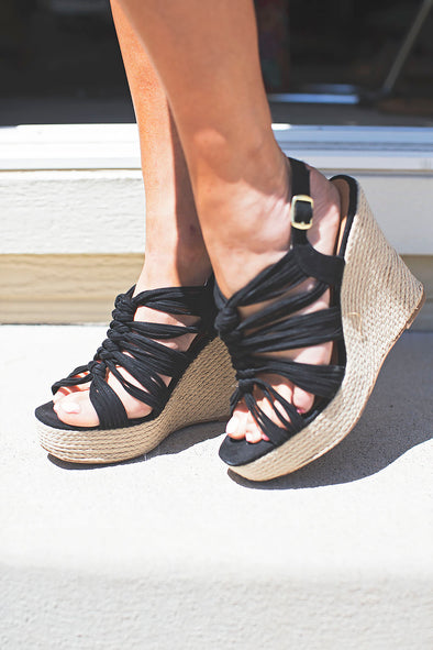 Summer Time Black Wedge