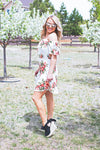 Ready for Cali Ivory Floral Dress