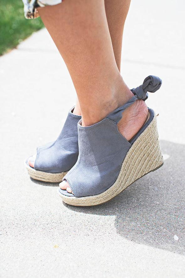 Grey Camille Tie Wedge