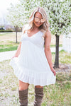Blaire Ivory Ruffle Dress