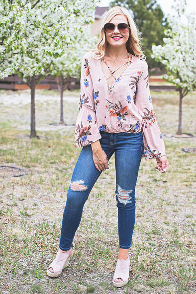 Lula Floral Blush Top
