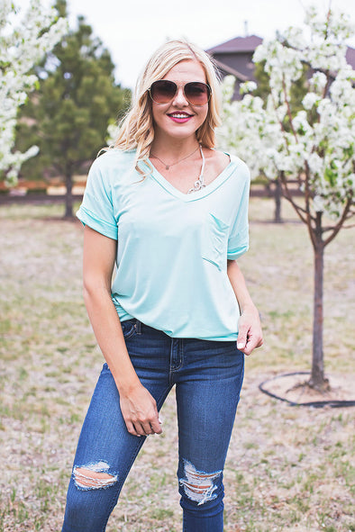 Casual Pocket Tee Mint