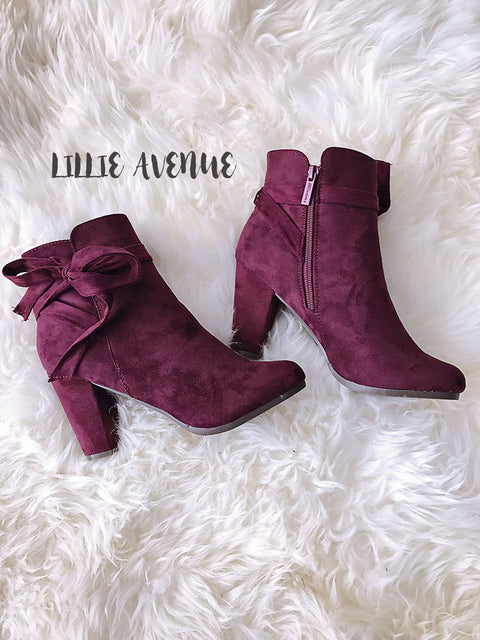Chic Wine Booties