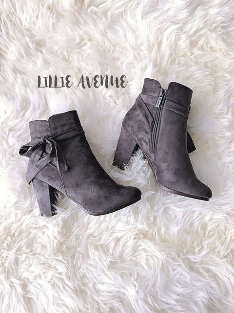 Chic Grey Booties