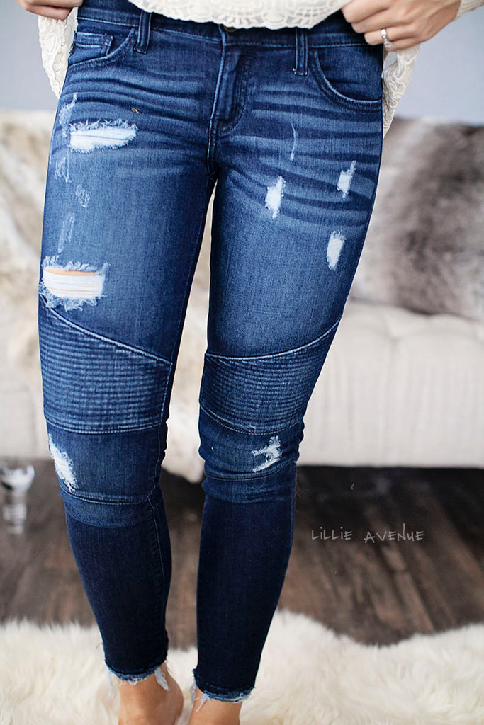 Jenna Moto Denim Bottoms Kancan