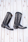 Black Sparkle Western Boot