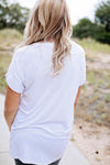 Casual white pocket tee (restock)