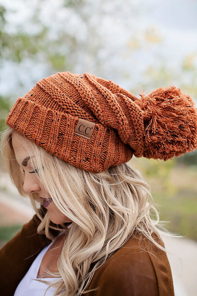 Rust Two Tone CC Beanie
