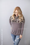 Pumpkin Spice Aztec Hooded Sweatshirt (mocha)