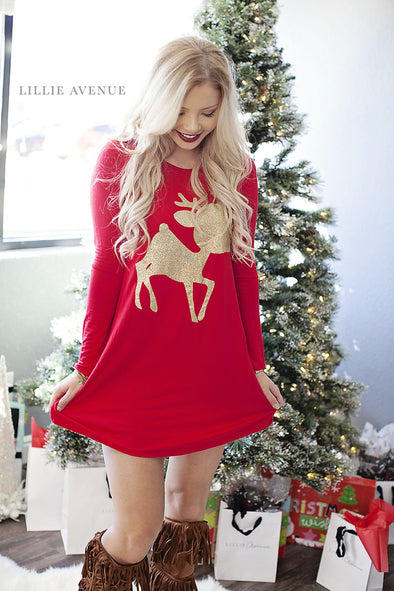 Rudolph Tunic Red