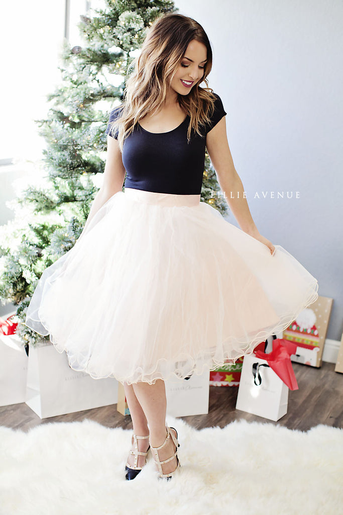Holiday Blush Tulle Skirt