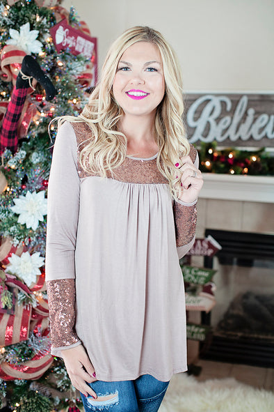 The perfect sequin christmas top
