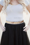 Holiday Sequin Belt