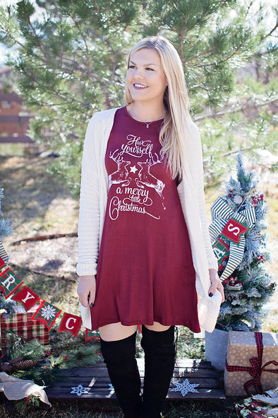 Have yourself a merry little christmas tunic (adult)