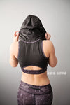 Black Stone Athletic Sports Bra Hooded