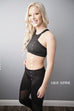 Cut out black sports bra