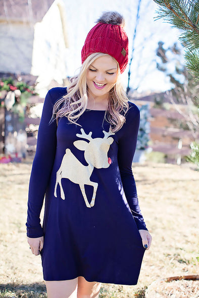 Rudolph tunic in navy