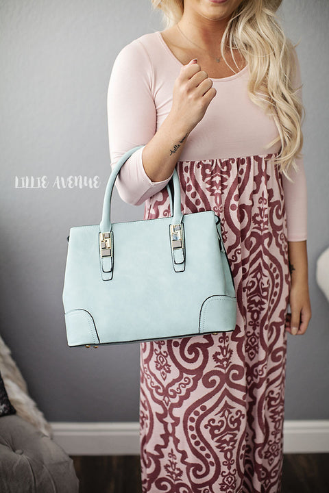 Light blue purse and extra small bag