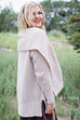 Autumn Shawl Sweater Beige