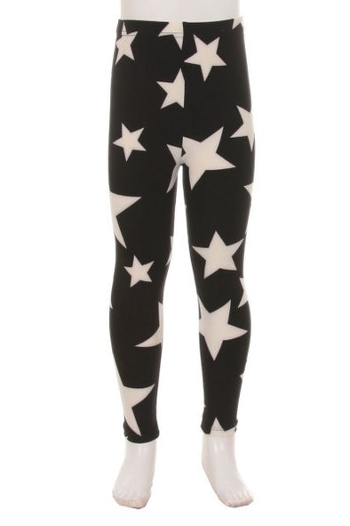 kids leggings black star