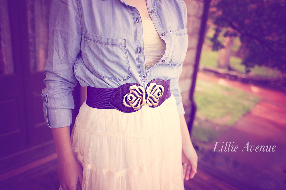 Purple metal belt