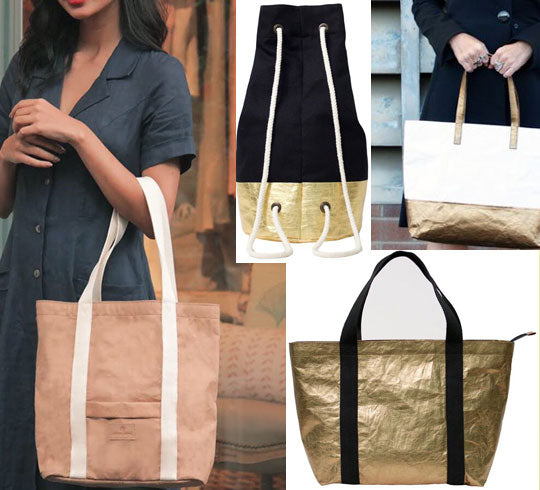 Learn more about Washable Paper Bags - a sustainable vegan leather alternative