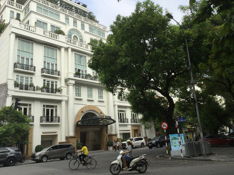 Apricot Hotel Front Entrance Hanoi