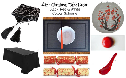 Asian Christmas inspiration #2: Black, red and white