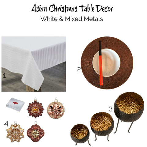 Asian Christmas inspiration #4: White and mixed metals