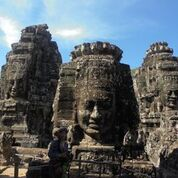 Cambodia With Kids, Bayon Faces