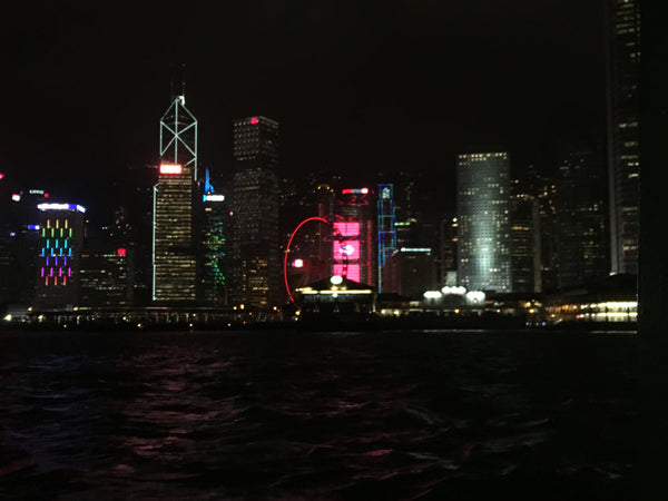 Hong Kong night sky from star ferry