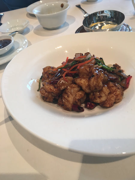 Black garlic prawns Lung King heen