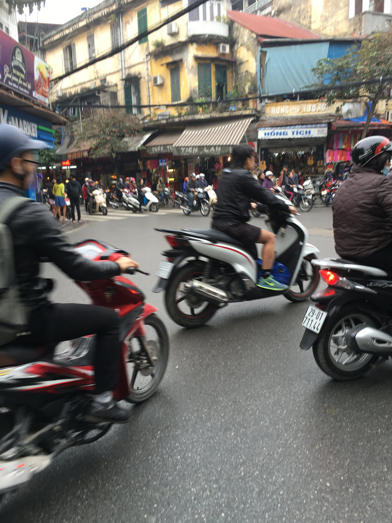 Scooters in old quarter Hanoi