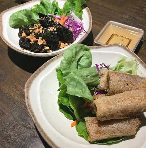 Net Spring Rolls and Betel Leaves at An Viet Chatswood Vietnamese