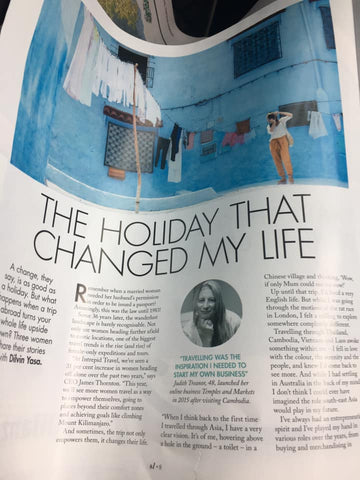 Sunday Life magazine Holidays that Changed Lives by Dilvin Yasa