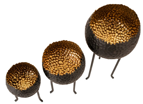 Hammered Bronze Chedi Gold and Bronze Bowls