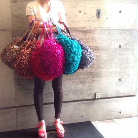 feather bags