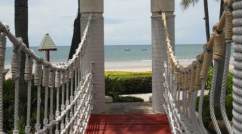 Hyatt Regency Hua Hin bridge to beach